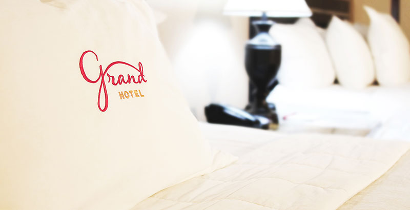 Grand Hotel mongramed pillowcase